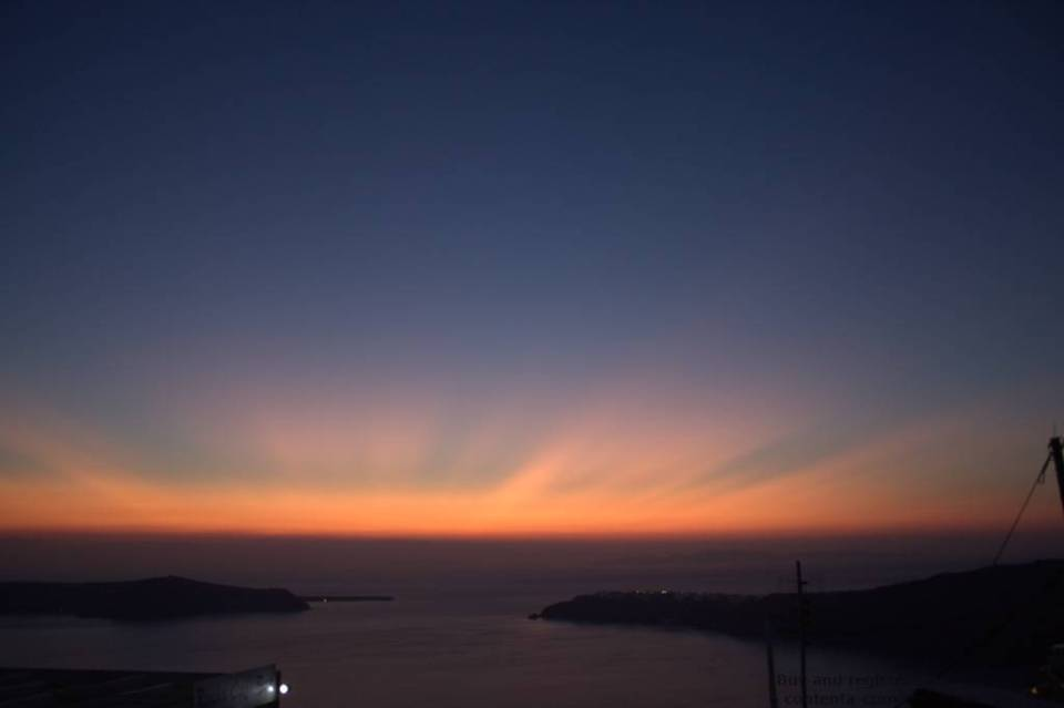 Santorini: Light after sundown - Imerovigli