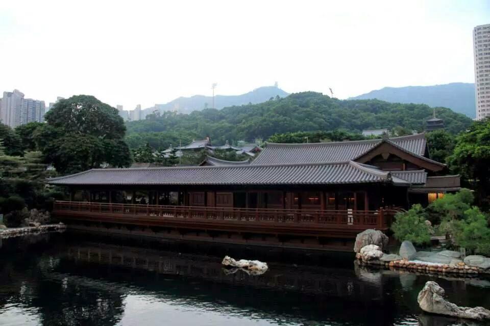 Hong Kong: Tea house at Nan Lian Gardens