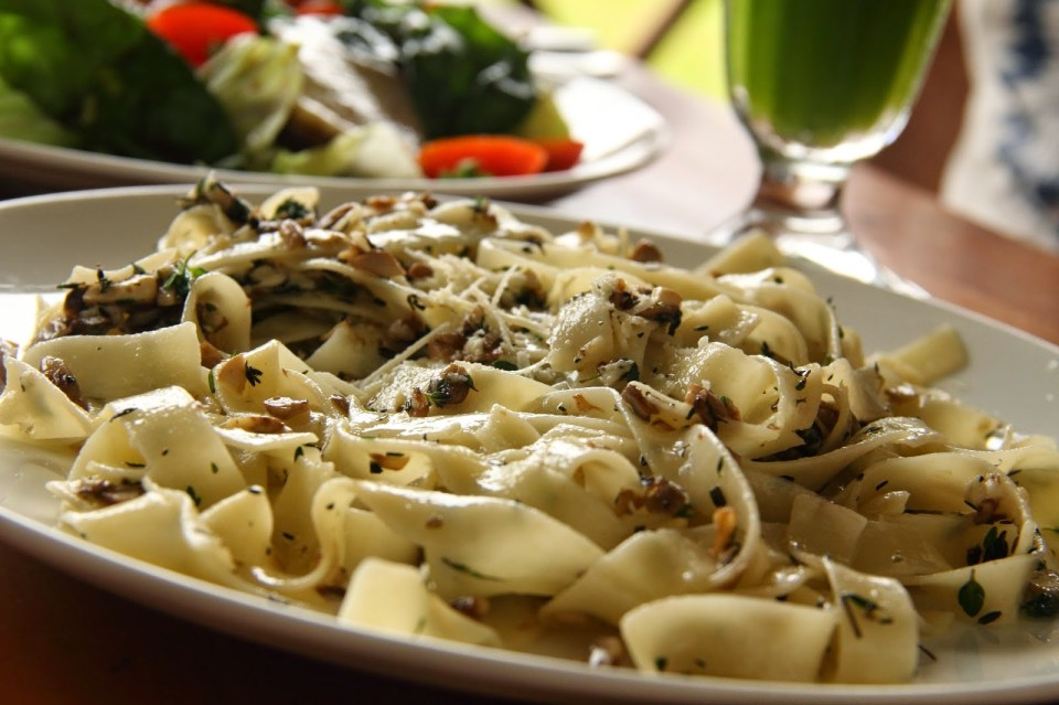 Fort Kochi: Mushroom pasta at Pepper House Cafe