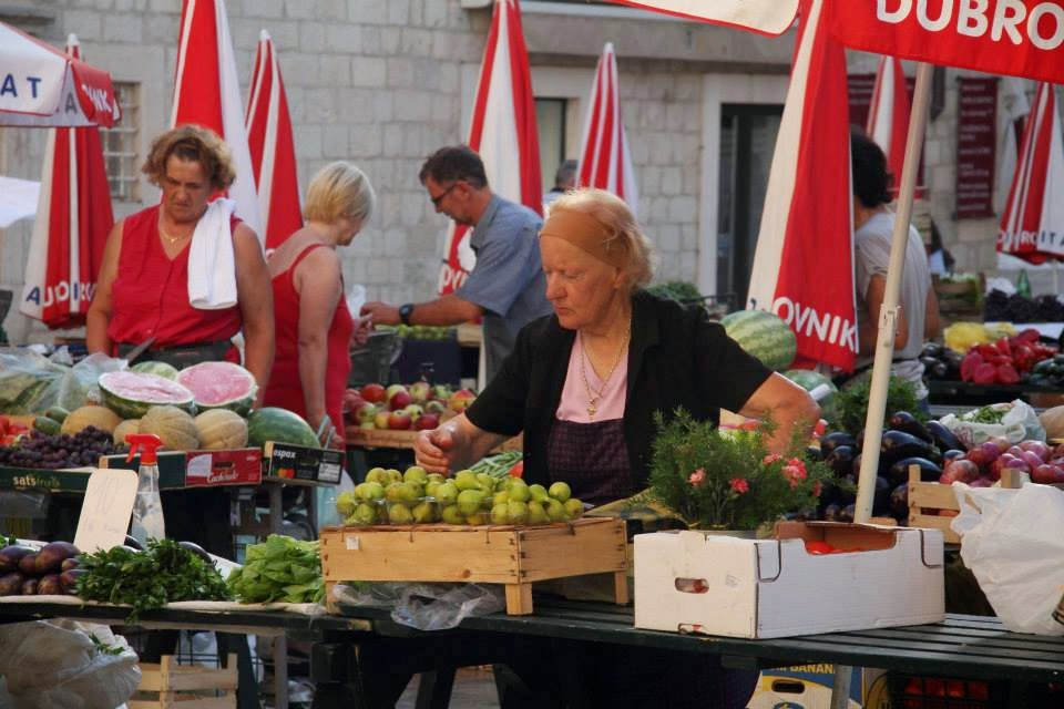 Dubrovnik: 'Granny' at the Farmers' Market
