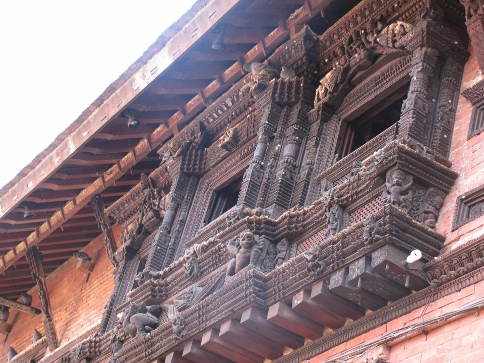 Carved wooden frames at Patan Square