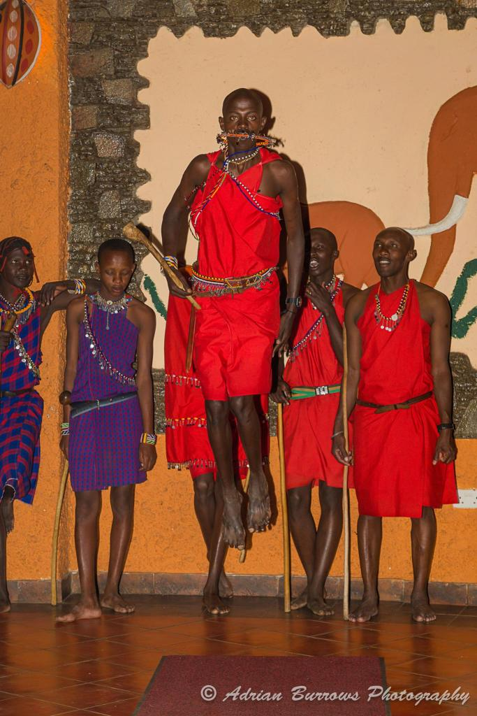 Maasais doing the 'Jumping Dance'