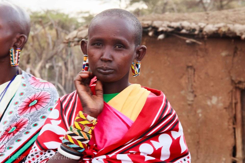 Maasai lady adorned with handmade bead jewellery