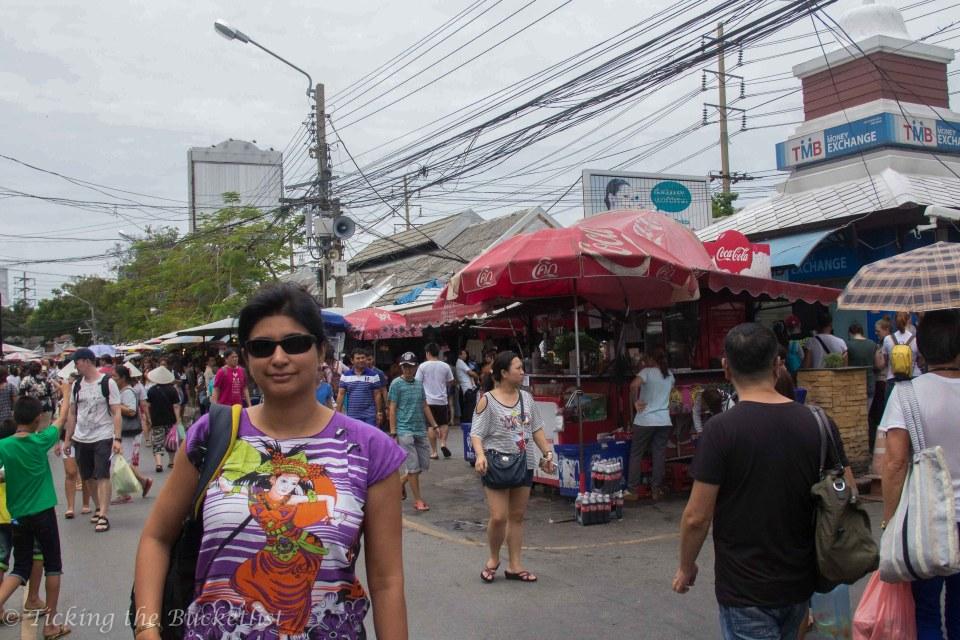 At Chatuchak Market...the main street