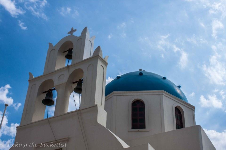 Santorini....Church with the blue dome