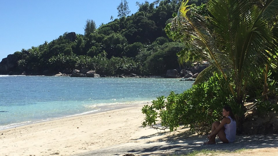 The beach at Kempinski, Mahe