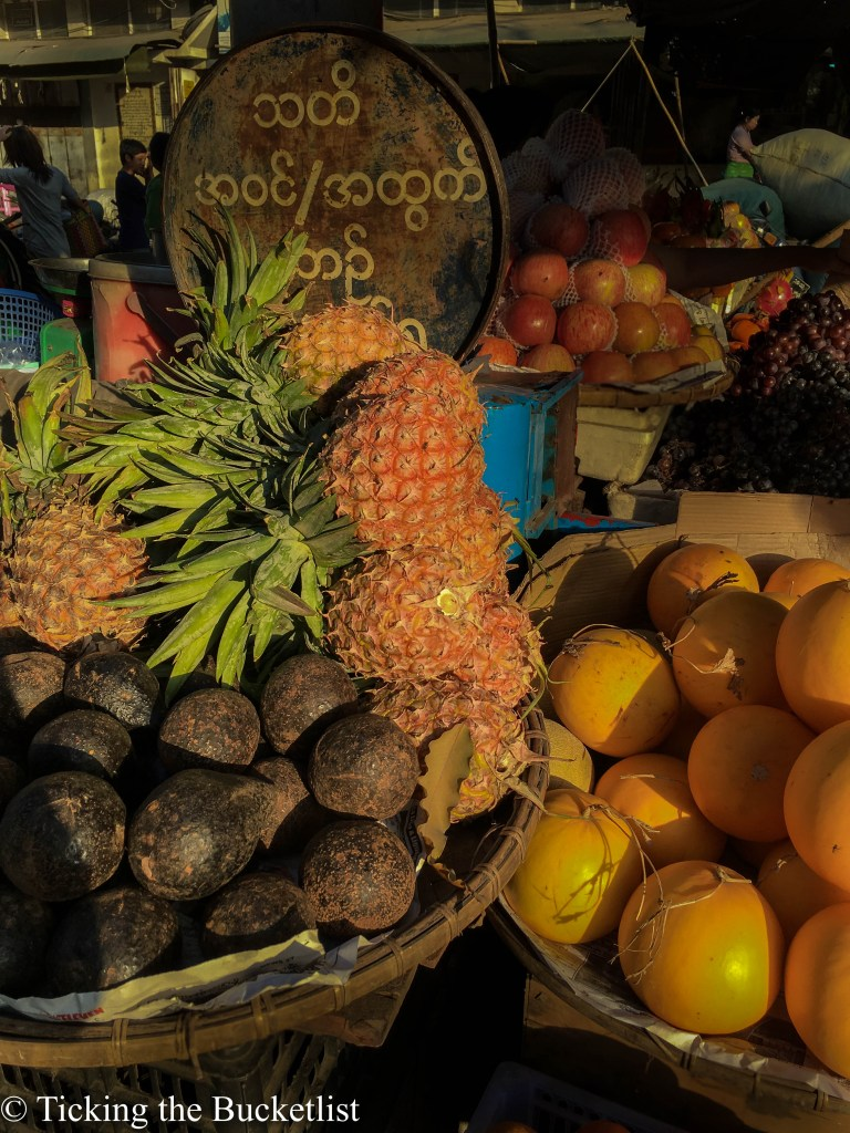 Fresh fruits in the local market
