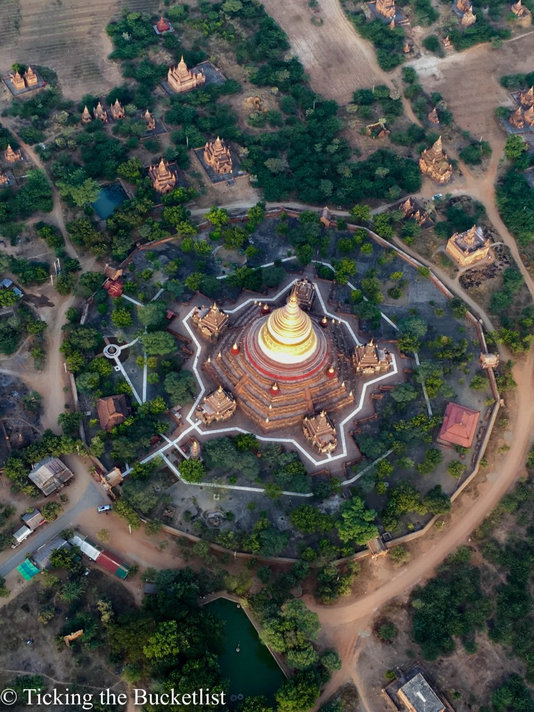 Dhammayazika from above...the only temple with five spokes!