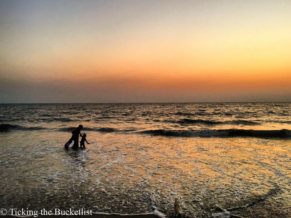 Sunset on Juhu beach....