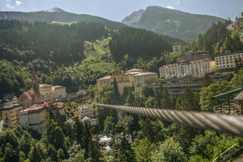 Flying Waters ...ziplining at Bas Gastein (pic courtesy: Bad Gastein Tourism)