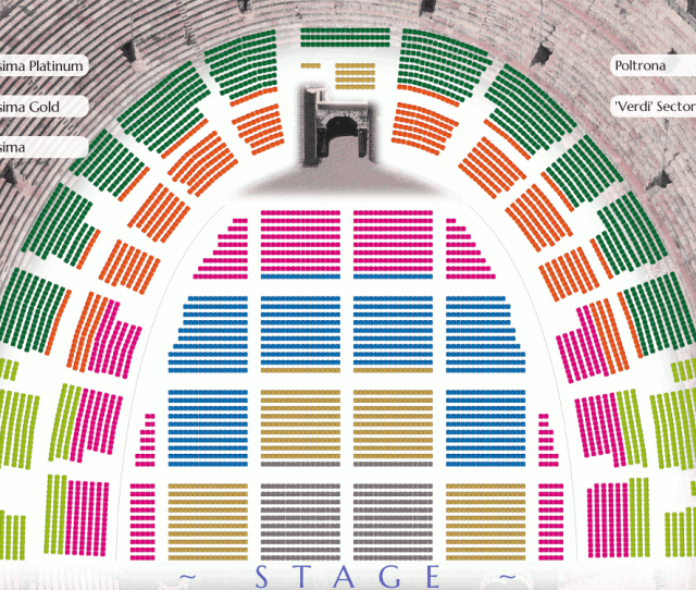 Verona Arena Seating Plan