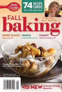 Betty Crocker Fall Baking Cover Contest