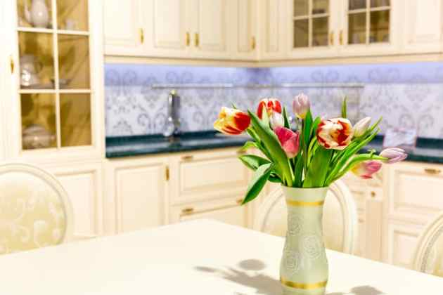 "One of the easiest ways to ""clean"" your house is to declutter your kitchen counter."