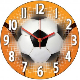 living room clocks next tropical decor children s over 100 for to choose from orange football wall clock 28 5cm