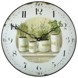 kitchen wall clocks facelift before and after or browse full range below herb pots clock 36cm