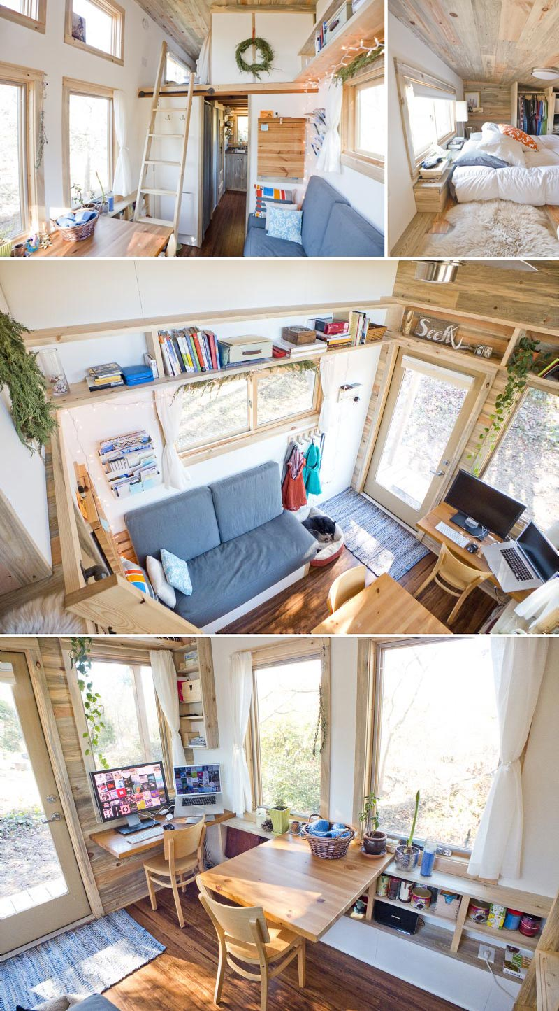 Simplifying living space tiny house living for families for Tiny house minimalist