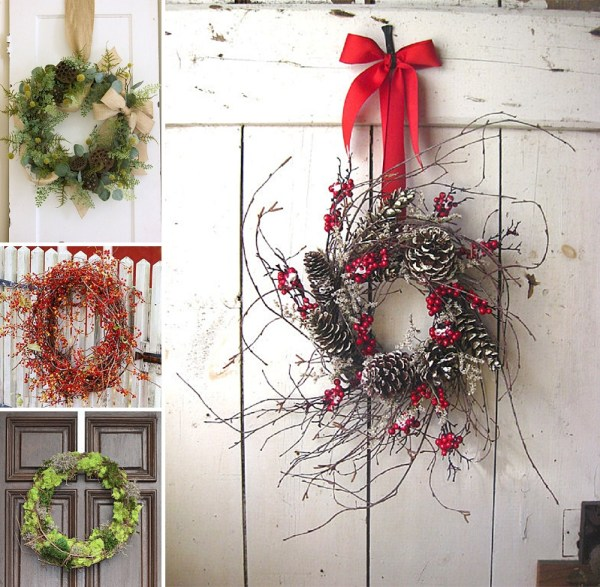 minimalist holiday decor - good base items as part of your regular decor that you can just customize for each holiday or season | christmas wreath, winter wreath, nature decor, christmas decor, winter decor