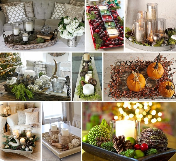 minimalist holiday decor - good base items as part of your regular decor that you can just customize for each holiday or season | fall decor, winter decor, thanksgiving decor, christmas decor, candles