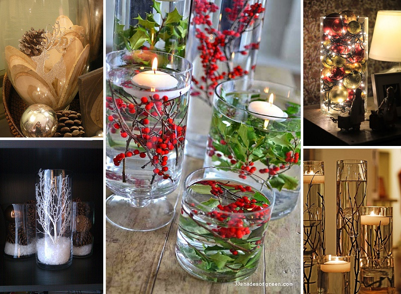 minimalist holiday decor - good base items as part of your regular decor that you can just customize for each holiday or season | winter vases, winter decor, christmas vases, christmas decor