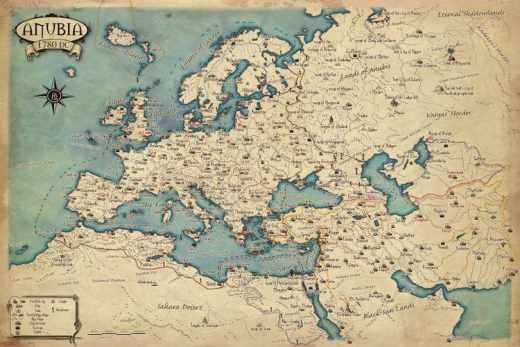 où partir en avril les 5 villes d'Europe du mois ancienne carte d'Europe aventurier découverte du monde explorateur