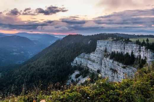 haut-jura : photo de l'horizon