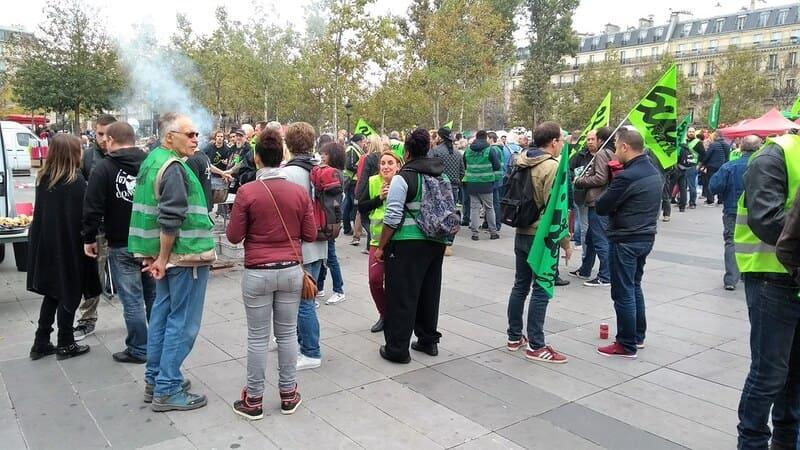 greve décembre - manifestation cheminots sud rail