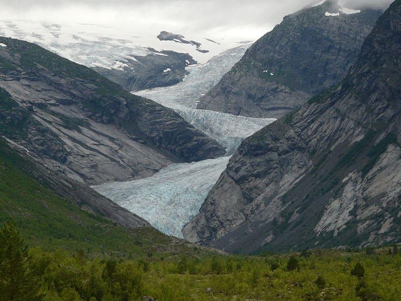 glacier du Jostedalsbreen en Norvège