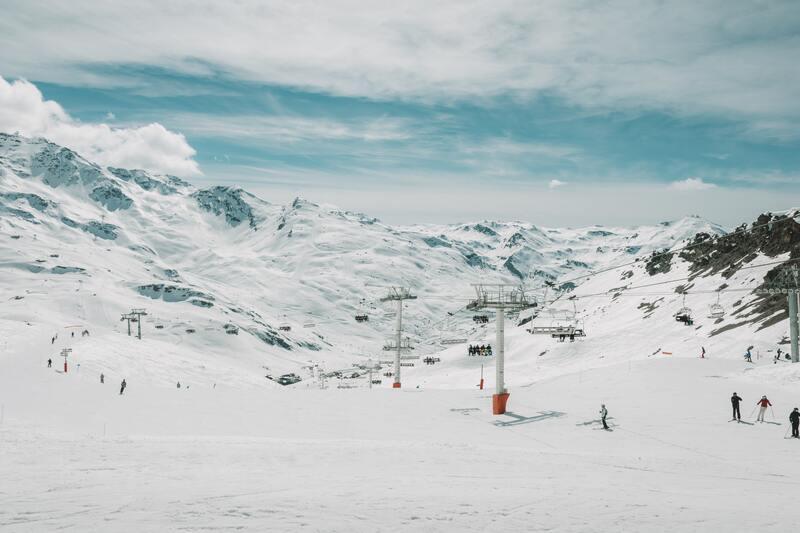 Piste de ski dans le Val d'Isère