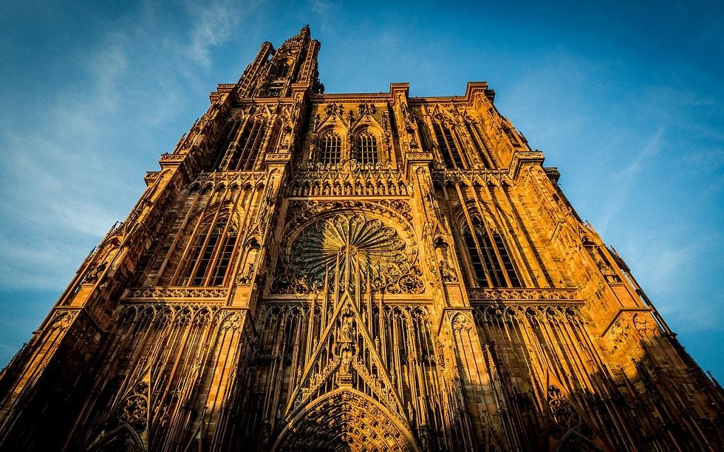 tournée des marchés de Noël cathédrale de Strasbourg