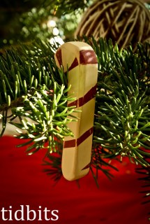 Vintage Candy Cane Ornament