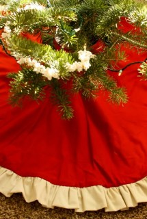 Tree Skirt, Ruffles, Reversible
