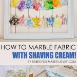 How to Marble Fabric – With Shaving Cream!