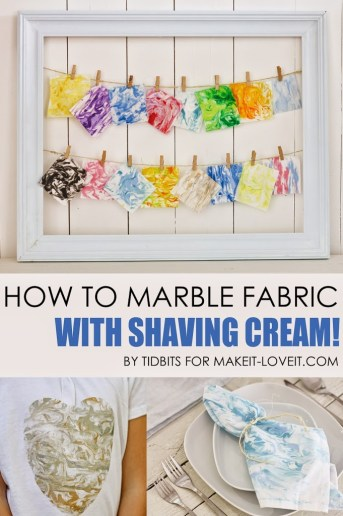 How to Marble Fabric With Shaving Cream