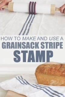 Grainsack stripe, stamp, textiles