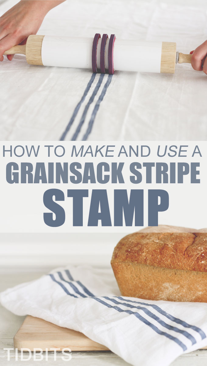 Grainsack stripe, stamp, textiles