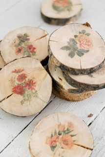 How-To Make Botanical Wood Slices