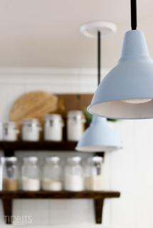 How-To Instantly Upgrade a Corded Pendant Light Fixture – with a steel rod