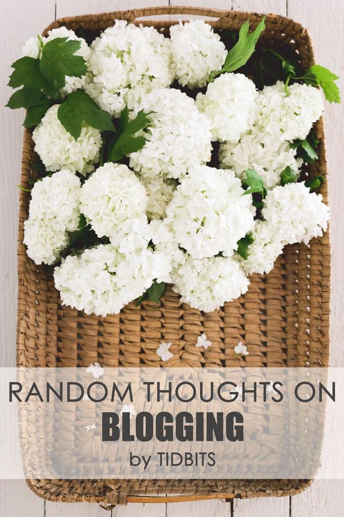 Random thoughts on blogging.