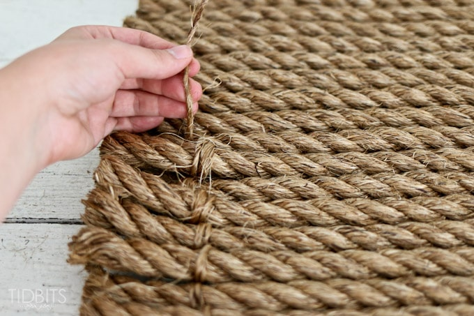 From rope to rug a diy tutorial tidbits for Rope carpet