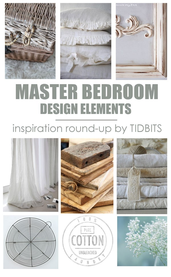 Master bedroom design elements.  Colors, textures and patterns to create a serene living space.