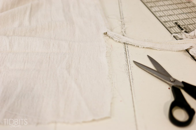 Easy DIY Grain Sack Pillow, made from a drop cloth - tutorial by TIDBITS