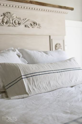 DIY Grain Sack Pillow | From a Drop Cloth