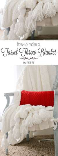 Tassel Throw Blanket DIY - Tidbits