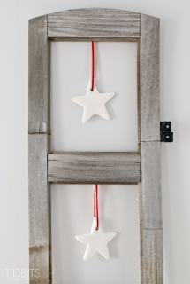 Hanging Clay Stars - Simple Christmas craft and home decor, great for kids and adults.
