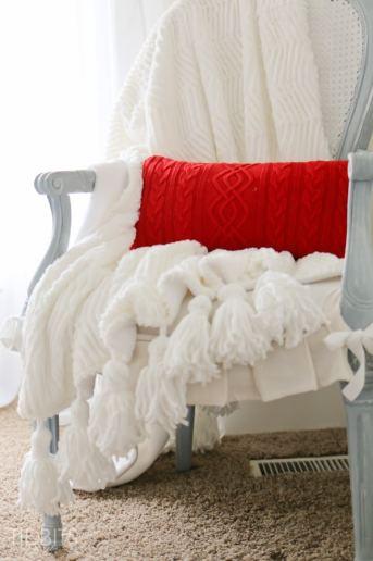 Tassel Throw Blanket DIY