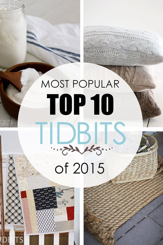Top 10 Posts of 2015 on the blog TIDBITS