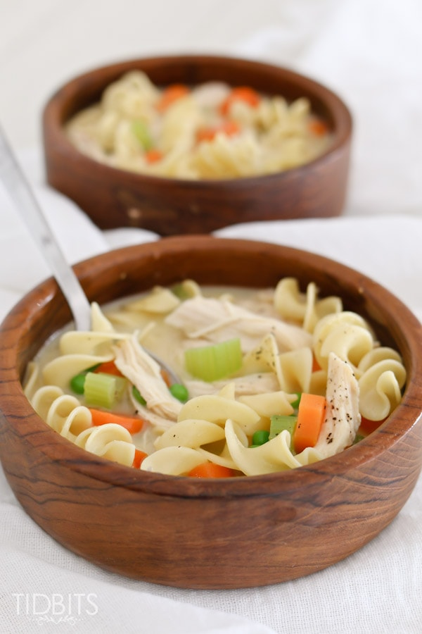 Creamy Chicken Noodle Soup - take the classic chicken noodle soup to a whole new yummy level!