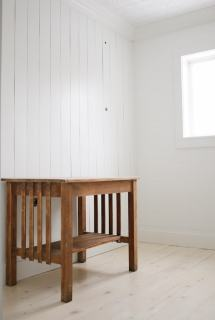 DIY Shiplap Pine Wood Floors with a whitewash. Beautiful, budget friendly flooring!