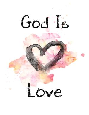 """Enjoy this FREE Valentine Printable and remind your family that """"God is Love"""".  Blue and Pink versions available."""