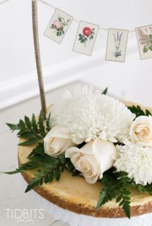 Mini Botanical Cake Banner and FREE Prints